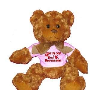 Give Blood Tease a Kerry Blue Terrier Plush Teddy Bear