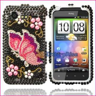 Bling Diamond Butterfly Full Hard Case Cover For HTC DROID INCREDIBLE