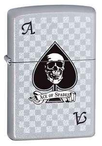Black Death Ace of Spade Skull Zippo Lighter