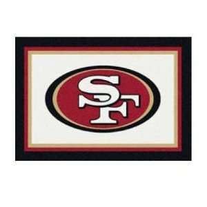 NFL Team Repeat San Francisco 49ers Football Rug Size 54 x 7