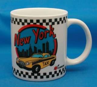 NEW YORK TAXI Porcelain Coffee Mug Souvenir Collectible