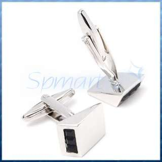 Mens Groom Stainless Steel WEDGE Wedding Business Shirt Cufflinks