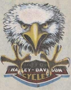 Vintage HARLEY DAVIDSON Eagle BLEACHED DENIM VEST XL