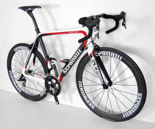 STRADALLI SRAM RED BLACK CARBON ROAD BIKE BICYCLE 52 cm
