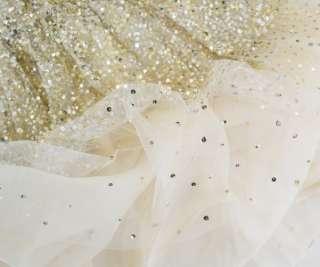 Alice+Olivia TALLULAH Princess Dress 4 UK 8 NWT Cream Silk Gold Sequin