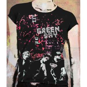 GREEN DAY   Band Logo   Girlie T SHIRT top New S M L XL