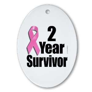 Breast Cancer Survivor D1 Health Oval Ornament by
