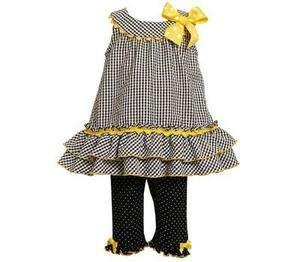 Bonnie Jean Baby Girls Spring Summer Checked Seersucker Dress