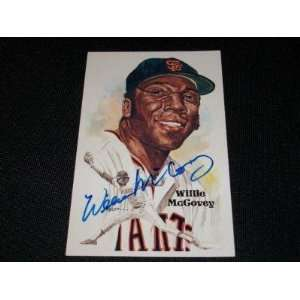 San Francisco Giants HOF Willie McCovey Auto Signed Perez Steele Art