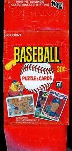 1984 Donruss Baseball EMPTY Wax Pack Box Card Set