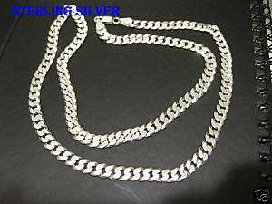 6mm Mens Sterling silver 24 Cuban link chain necklace