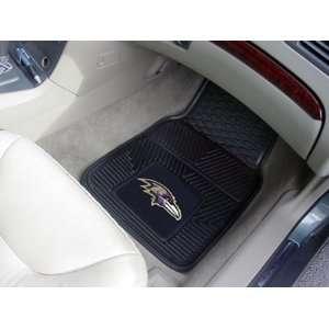 NFL Baltimore Ravens 2 Piece Heavy Duty Vinyl Floor Car Mat Set with