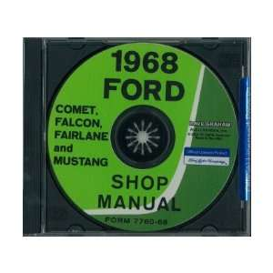 FALCON MUSTANG TORINO RANCHERO MERCURY Shop Service Manual Book CD