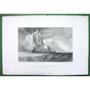 FRANCE Normandy View of St. Michaels Mount Castle   Vintage Antique
