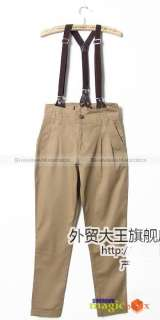 Women Overall Suspender Trousers Pants 5 Colors New 020