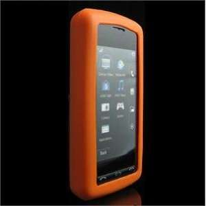ORANGE FULL VIEW Silicone Skin Cover Case w/ Screen Protector for LG