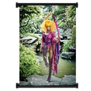 Nicki Minaj Rapper Fabric Wall Scroll Poster (32 X 42
