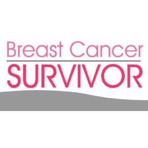 3x6 Vinyl Banner   Breast Cancer Survivors