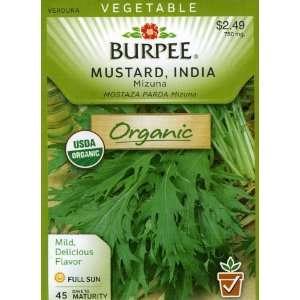 Burpee 68451 Organic Mustard Mizuna Seed Packet Patio