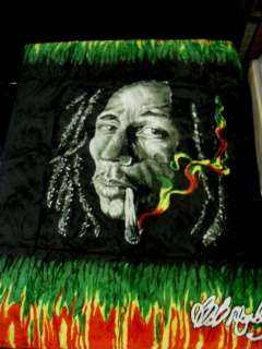 QUEEN BOB MARLEY BLANKET BLACK SUPER SOFT DOUBLE PLY 2 SIDES NEW