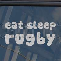 EAT SLEEP Rugby Decal Car Truck Bumper Window Sticker