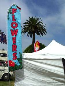 15 FLOWERS Super Tall Feather Banner Swooper Flag