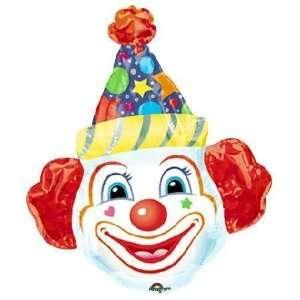 Crazy Clown Head Super Shape Balloon: Toys & Games