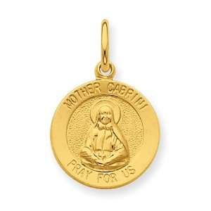 Sterling Silver & 24k Gold  Plated Mother Cabrini Medal Jewelry