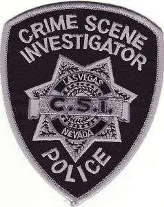 Las Vegas Nevada NV. Crime Scene CSI Police Patch *New*