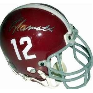 Joe Namath autographed Football Mini Helmet (ALABAMA