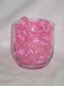 14g PINK DECO BEADS WATER STORING GEL CRYSTALS PEARLS