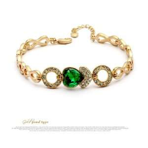 Swarovski Crystal Gold Plated Fashion Bracelet Feminine