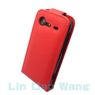 Red Leather Case Cover Pouch For HTC INCREDIBLE S S710E