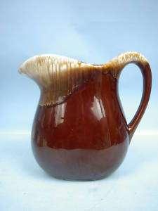 Brown Drip Glaze Pitcher by McCoy