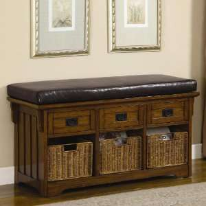 Benches Small Storage Bench with Upholstered Seat