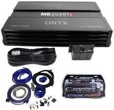 ONX1.1500D 1500 Watt RMS Mono Car Amplifier+Amp Kit+2 Farad Capacitor