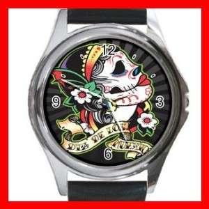 Dia De Los Muertos Round Metal Wrist Watch New