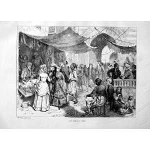 1869 BAZAAR CAIRO EGYPT SHOPPING SELLING STREET PRINT: Home & Kitchen