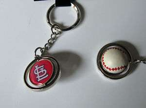 ST. LOUIS CARDINALS RUBBER BASEBALL SPINNER KEYCHAIN 763264078856