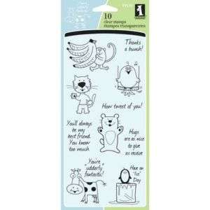 FRIENDLY CHARACTERS Clear Stamps 99510 Inkadinkado S/10