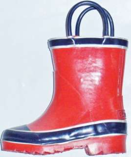 Boys Toddlers SPLASHERS Red/Navy Rubber Snow Rain Boots 13 M