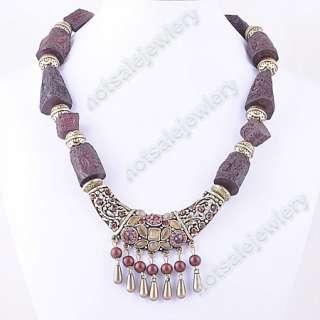 Wholesale 8Pcs Bohemia Resin Beads Cat Eye Necklace
