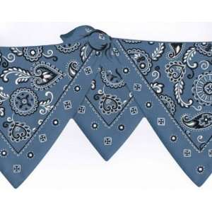 Wallpaper Border Waverly Western Blue Cowboy Bandana Die