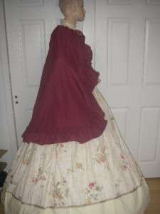Custom Day Dress/Gown Southern Belle Civil War Victorian 3PC NWOT