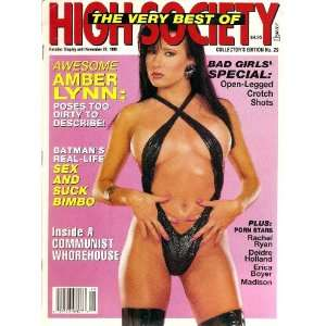 Society The Very Best of 1990 # 29 Amber Lynn: HIGH SOCIETY: Books