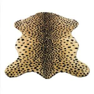 Cheetah Pelt  Safari Collection  Faux Fur Rug  3 foot X