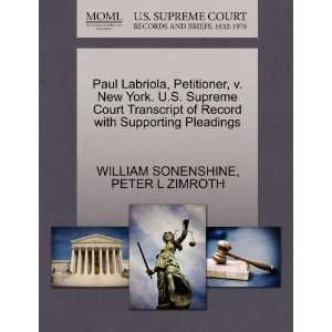 Pleadings (9781270661191) WILLIAM SONENSHINE, PETER L ZIMROTH Books