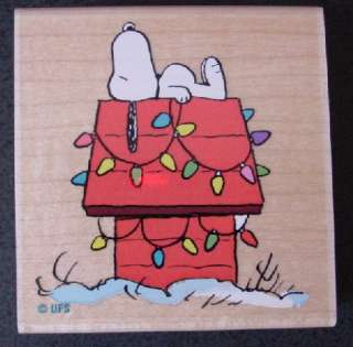 Peanuts Snoopy Christmas Holiday rubber stamps   NEW