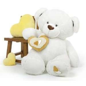Chomps Big Love White Extra Large Huggable Teddy Bear 47