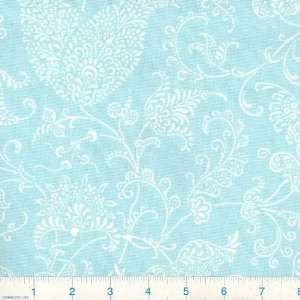54 Wide Small Paisley French Blue Fabric By The Yard